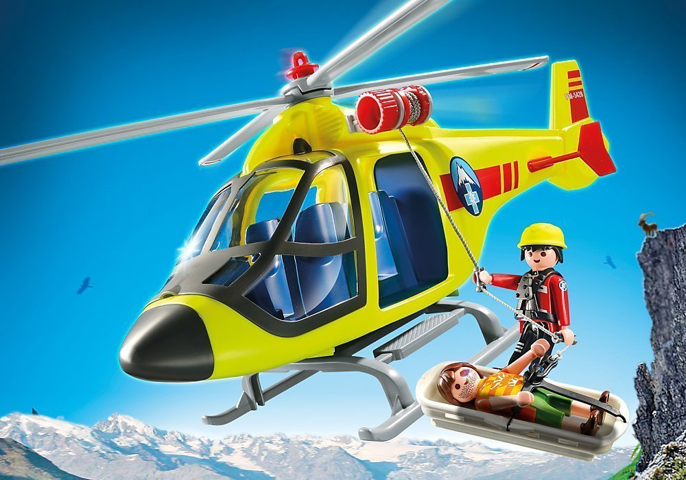 Playmobil 5428 helic ptero de rescate industria 61 for Helicoptero playmobil