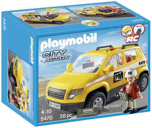 Playmobil 5470 - City Action - Coche de Supervisión