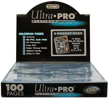 100 Ultra Pro PLATINUM 9 Pocket Pages