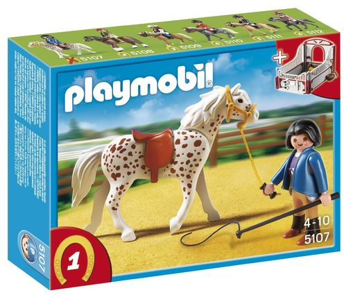 Playmobil 5107 - Caballo Knabstrupper con Establo