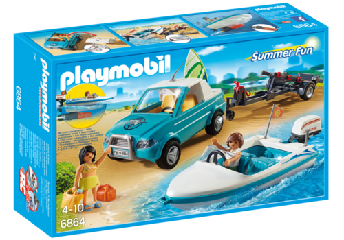 Playmobil 6864 - Pick Up con Lancha