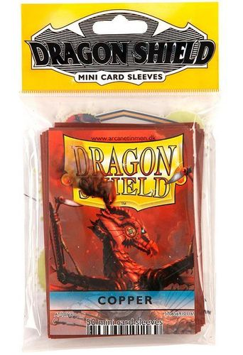 50 Fundas Dragon Shield Mini - BRONCE