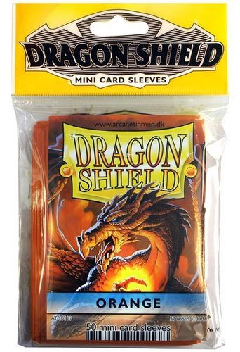 50 Fundas Dragon Shield Mini - NARANJA