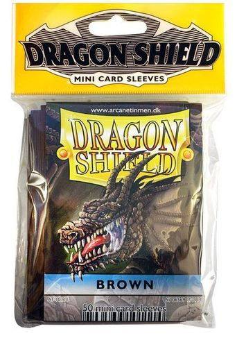 50 Fundas Dragon Shield Mini - MARRON