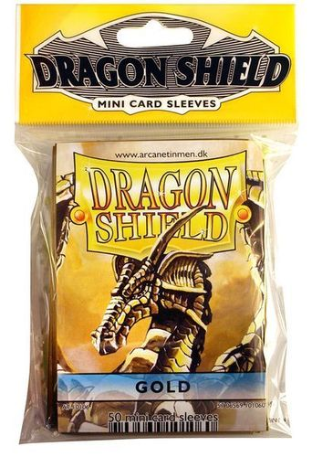 50 Fundas Dragon Shield Mini - ORO