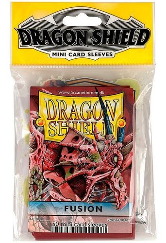 50 Fundas Dragon Shield Mini - FUSIÓN