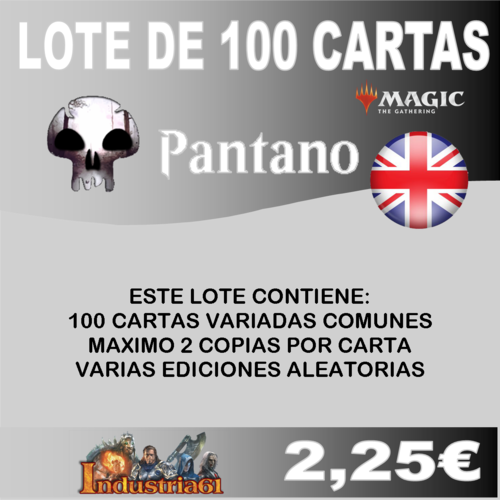 100 CARTAS COMUNES DE MAGIC - NEGRO en INGLÉS