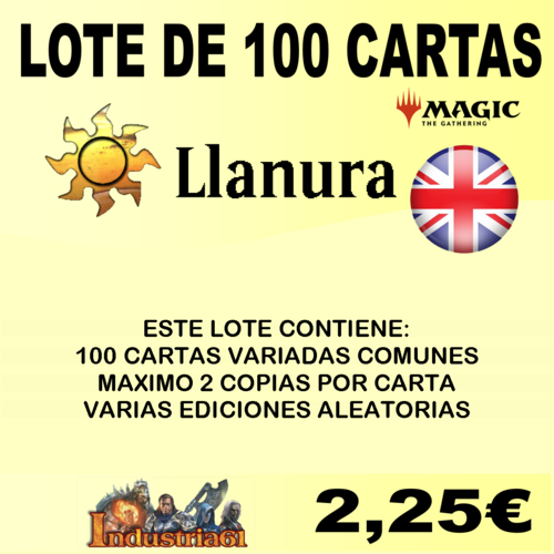 100 CARTAS COMUNES DE MAGIC - BLANCO en INGLÉS