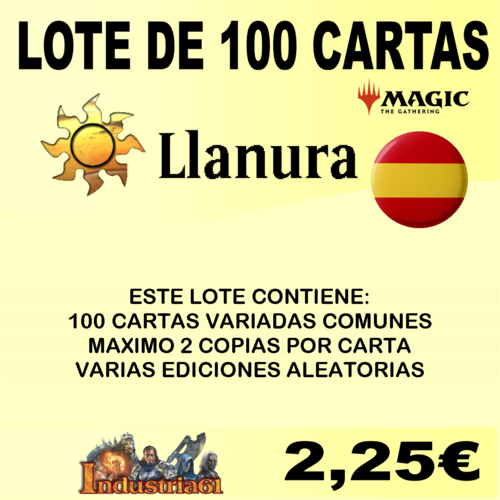 100 CARTAS COMUNES DE MAGIC - BLANCO en CASTELLANO