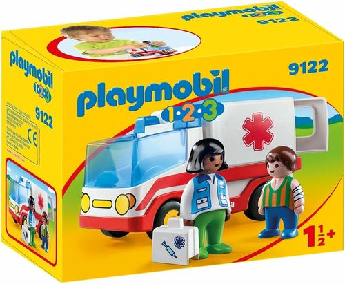 Playmobil 9122 - 1.2.3 - Ambulancia