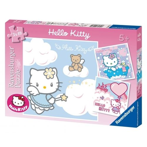Ravensburger - Puzzle 3x49: Hello Kitty