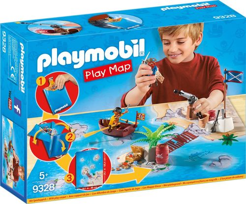 Playmobil 9328 - Play Map - Piratas del Caribe