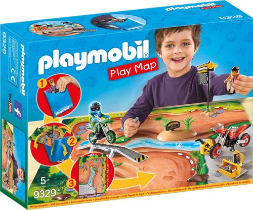 Playmobil 9329 - Play Map - Motocross